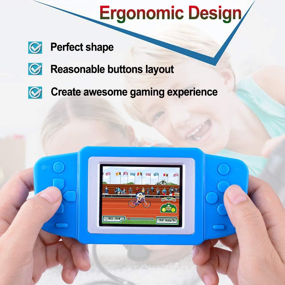 ZHISHAN Consola de Juegos Port/átil para Ni/ños con Construido en 220 Classic Video Juegos Sistema 3.0 LCD Cumplea/ños Verde