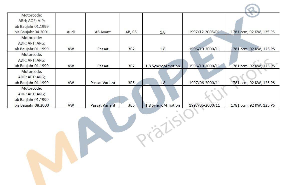 macopex 400193 Luftmassenmesser