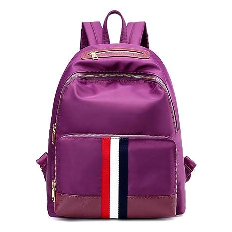 Bolsas de hombro doble nylon Oxford elegante de tela impermeable mochilas escolares de estudiantes de ocio