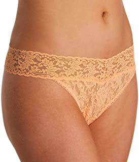 product image for hanky panky Signature Lace Original Rise Thong, One Size, Apricot Crush