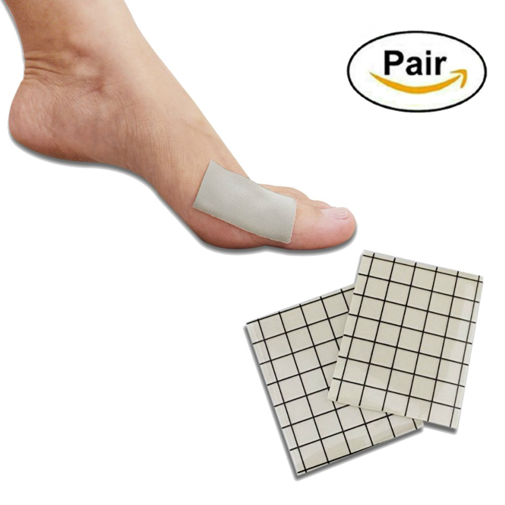 Ortho Pauher Moleskin Gel Sheets - Second Skin Protective Padding for Corn and Callus Treatment (1 Pair)