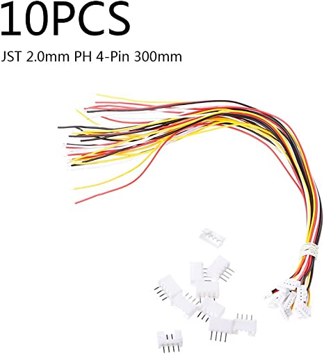 Mini Micro JST PH 2.0mm PH 4Pin Connector plug with Wires Cables 20 SETS