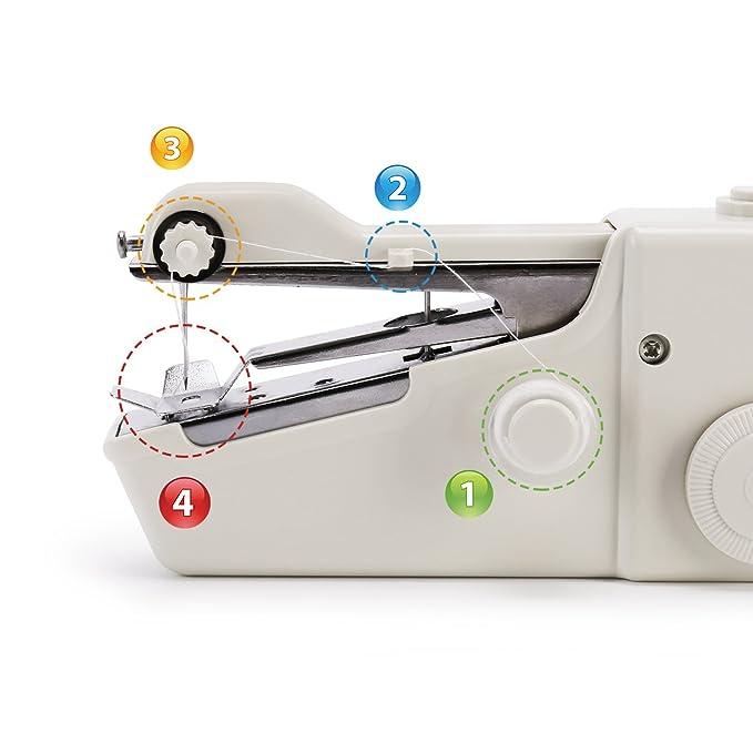 Amazon.com: Máquina de coser portátil, mini máquina de coser ...