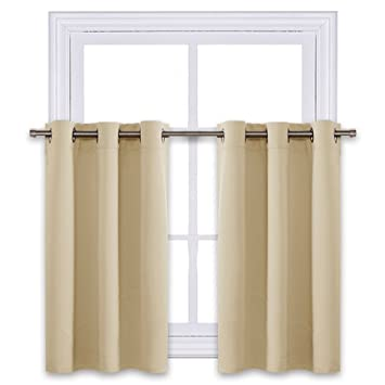Amazoncom Nicetown Small Windows Room Darkening Valances
