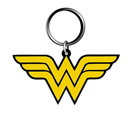 Amazon.com: DC Wonder Woman Logo tacto suave PVC Llavero ...