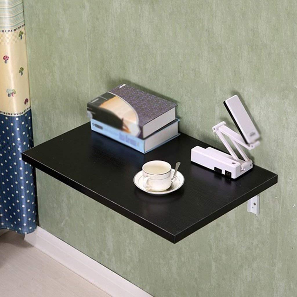 AFDK Klapptisch Wandtisch Wandbehang Esstisch Computertisch Faltbarer Schreibtisch Küchenbalkontisch, Schwarz , Größe Optional,60  30 cm