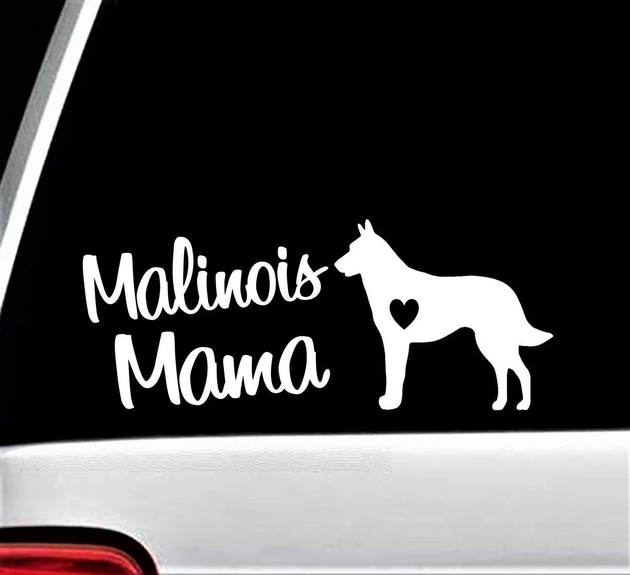Malinois Mama Decal Sticker for Car Window 8 Inch BG 165