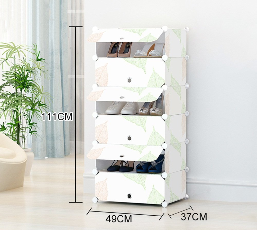 ALUS- Simple And Modern Multifunction Shoe Cabinet,Combination Of Large-capacity Multi-layer Resin Plastic Shoes Storage Rack,Dust-proof Small Shoe Rack ( Size : 4937111cm )