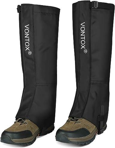 V VONTOX Polainas, Polainas Impermeables para Caminatas Oxford para Mujeres y Hombres, Cubre Polainas Transpirables para Nieve para Raquetas de Nieve ...