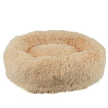 laamei Cama para Mascotas, Cama de Perros Perrera Redonda Nido de Peluche de Invierno Cómodo