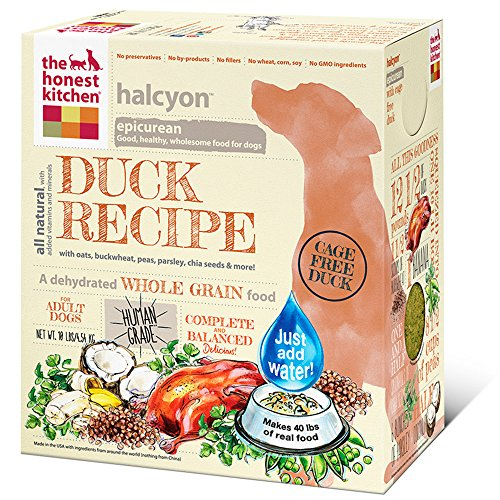 The Honest Kitchen Halcyon Organic Whole Grain Dog Food - Natural Human Grade Dehydrated Dog Food, Duck, 10 lbs (Makes 40 lbs)