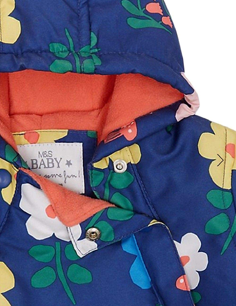 6-9mths 9-12mths M/&S Boys Red Hooded Stormwear Snowsuit 3-6mths