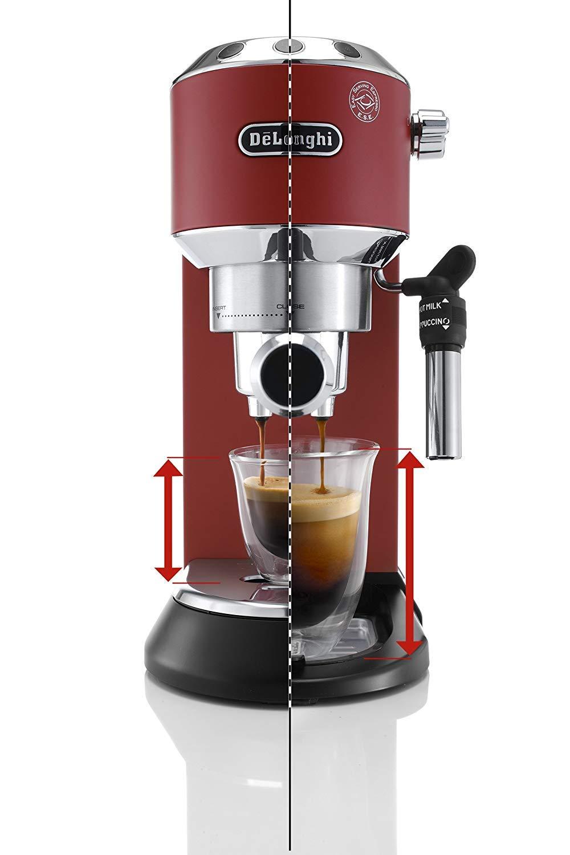 Flexible Abtropfschale der günstigen Siebträger Espressomaschine De'Longhi EC 685.R Dedica im Angebot