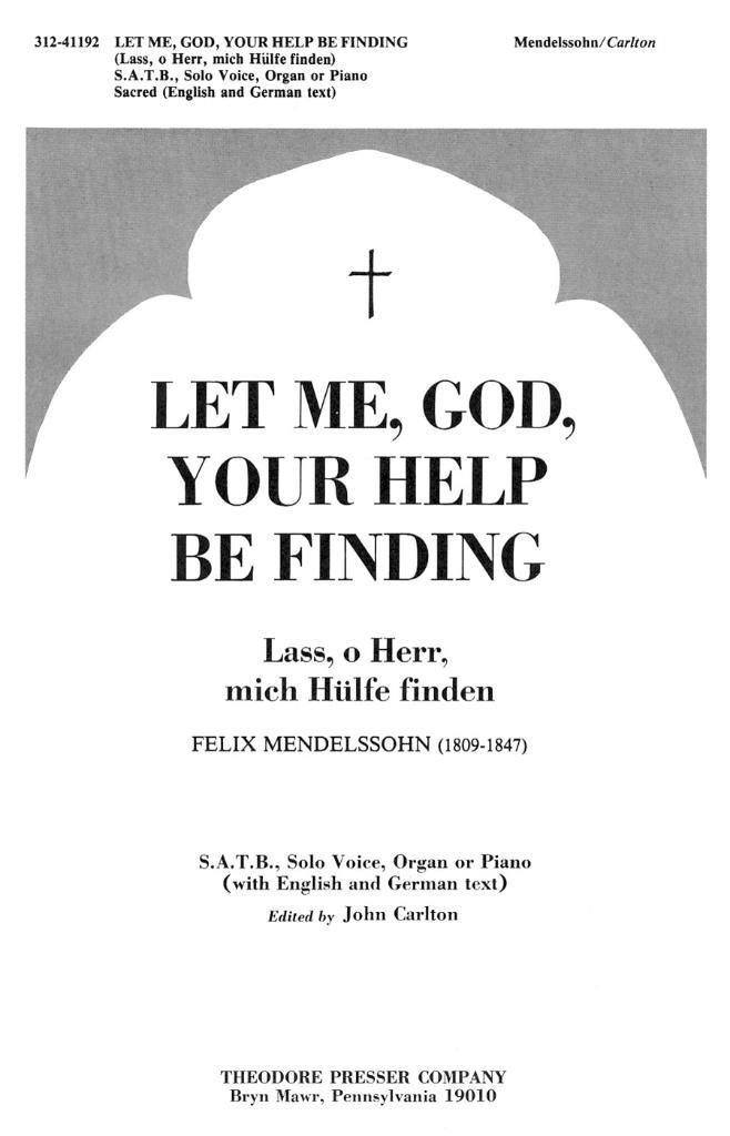 Let Me, God, Your Help Be Finding pdf epub