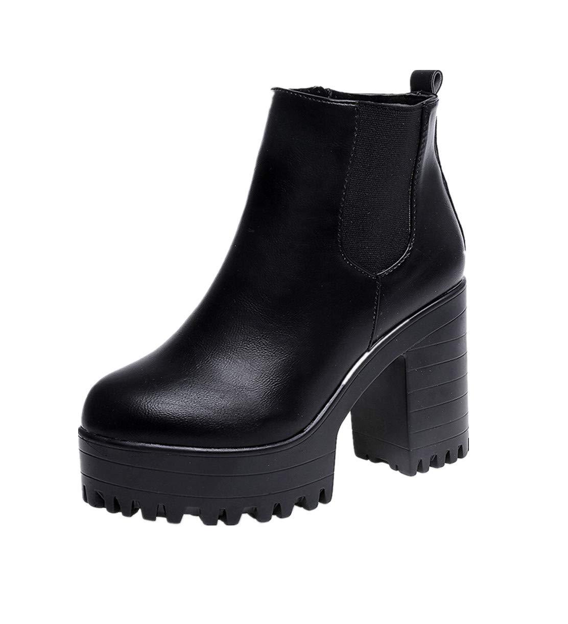 Sunnywill-Chaussures fFemme mperméables et B012OBQCEK Bottes Femme Femmes en Velours, Bottes des Martin à Tête Ronde, Bottes d hiver des Femmes Noir a1fcabd - automaticcouplings.space