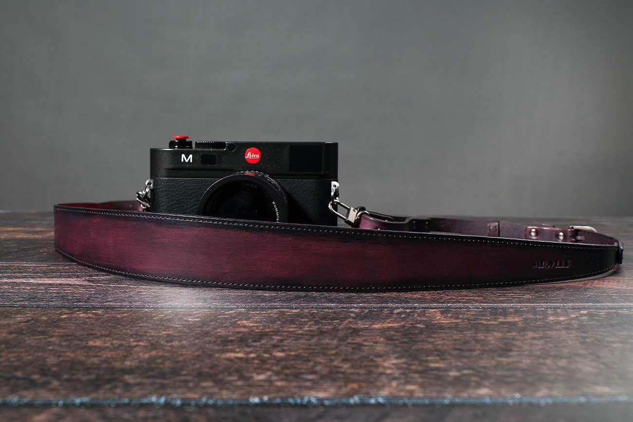 Vintage Camera Strap with Quick Release Buckle Panasonic Fuji Black Olympus MR Canon YLLS Handmade Genuine Leather Camera Neck Belt for Women /& Men for DSLR Cameras Sony Black Nikon