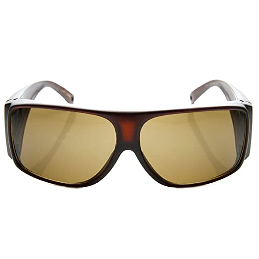28cdacd8654 Large Polarized Cover Full Protection Vented Arm Fit Over Sunglasses (Brown)