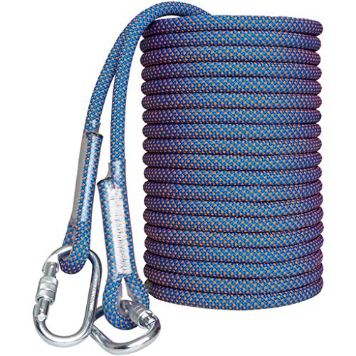 DLYDSS Climbing Rope, Outdoor Safety Rope, Aerial Work Rope, Wear-Resistant, Polyester Material, 14mm/16mm, Pull Force 38KN/45KN, Lifeline Rescue Equipment, Disaster Prevention Escape, Outdoor Travel