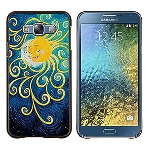 Stuss Case / Funda Carcasa protectora - Pintura Luna Kids sueño de la noche - Samsung Galaxy E7 E700