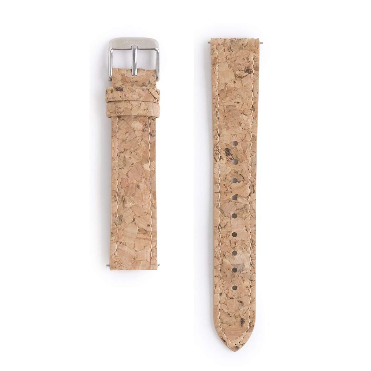 Correa de Reloj de Corcho de 18mm | Función Intercambiable | Vegana y sintética | Corcho Reciclado | Eco Friendly: Amazon.es: Relojes