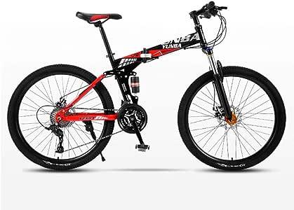 DSAQAO Bicicleta De Montaña Plegable 26 Pulgadas,21 24 27 30 Speed ...