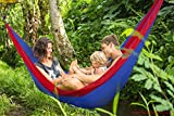 Enem Lightweight Portable Hammock / swing / cradle -Two Person Double for Backyard, Porch, Backpacking, Camping, Travel, Beach, Yard, Outdoor or Indoor Use – Parachute Nylon for Supreme Comfort-Random Color