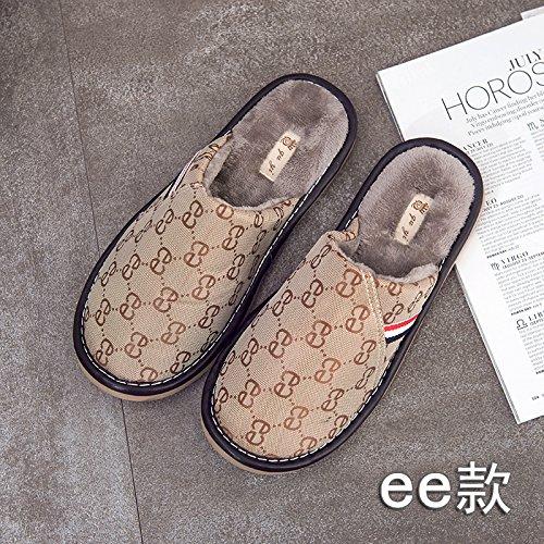 DogHaccd pantofole,In inverno il cotone pantofole indoor anti-slittamento peluche carino pantofole home giovane caldo spesso non pantofole piano,L'Oro40-41