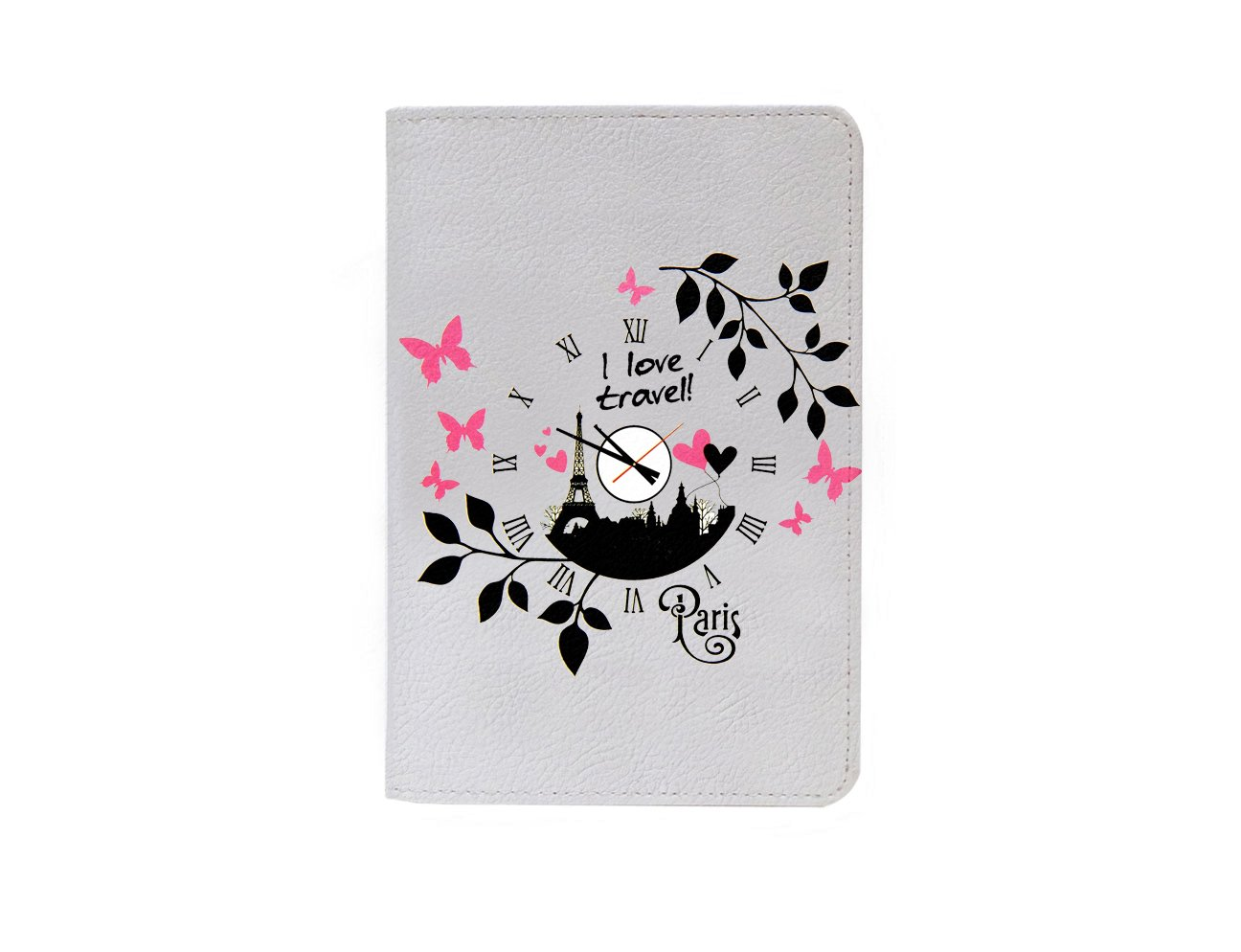 I Love Travel Paris Leather Business ID Passport Holder Protector Cover_SUPERTRAMPshop