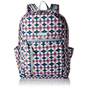 Vera Bradley Lighten up Grand Backpack, Polyester, Water Geo