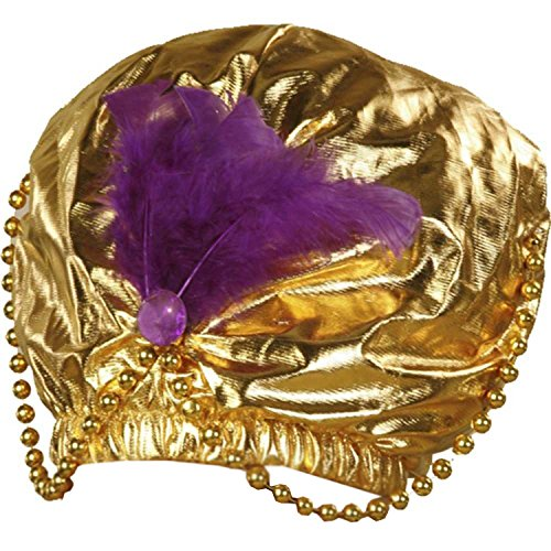Mens Sultan Costumes (Forum Novelties - Gold Turban with Beads,12