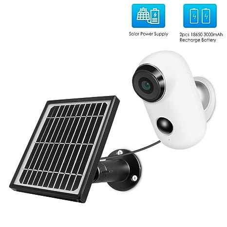 ZYLFN Cámara inalámbrica con alimentación Solar, cámara IP ...