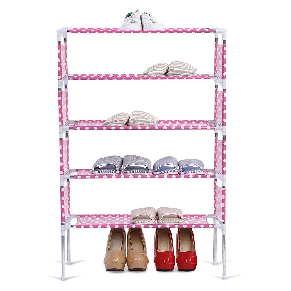 Plataforma De Almacenamiento De Zapatos Torre De Zapatos Zapata Multifuncional Organizador De Almacenamiento De Zapatos Asamblea De Bricolaje No Se Requieren Herramientas Estante De Zapatos 4 niveles
