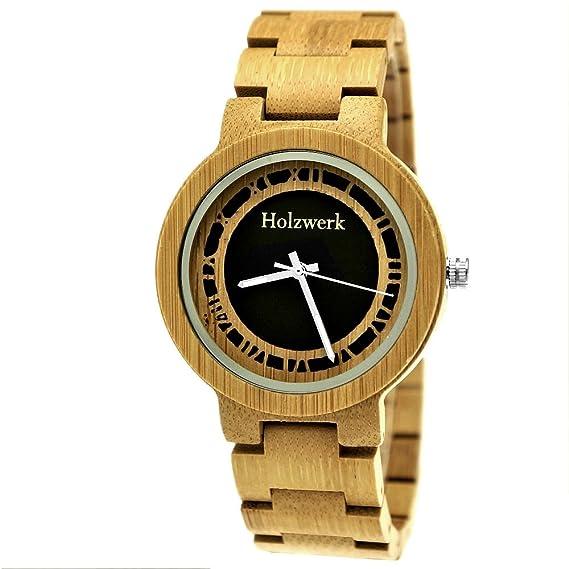 Hecha a mano de madera de Alemania® – Reloj unisex Reloj de mujer de hombre