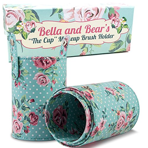 Makeup Brush Holder by Bella and Bear - Perfect as a Brush Holder for Travel and as a Decorative Addition to your Vanity