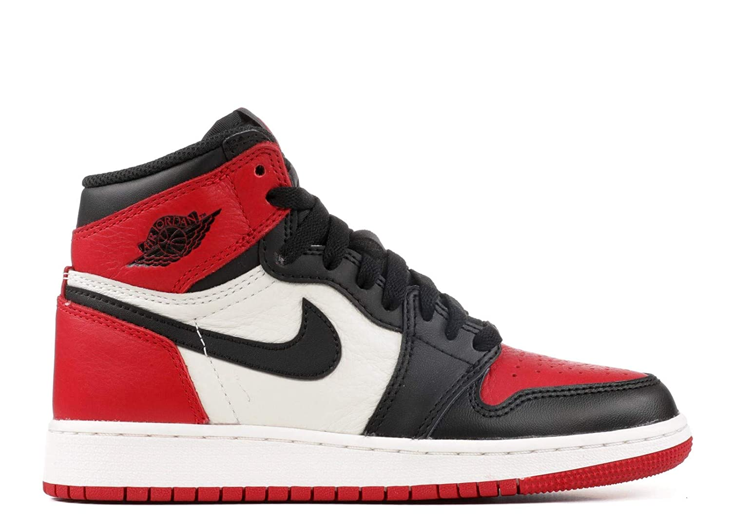 Jordan Air 1 Retro High OG (Bred Toe) (Kids)