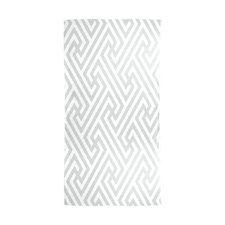 WDYSECRET Gray Maze Silk Printing Scarves@for Women 70.86x35.4(in)