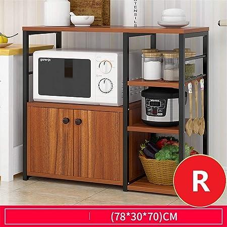 WWDS Cocina Estante,microondas Soporte De Piso,Cocina Libre ...