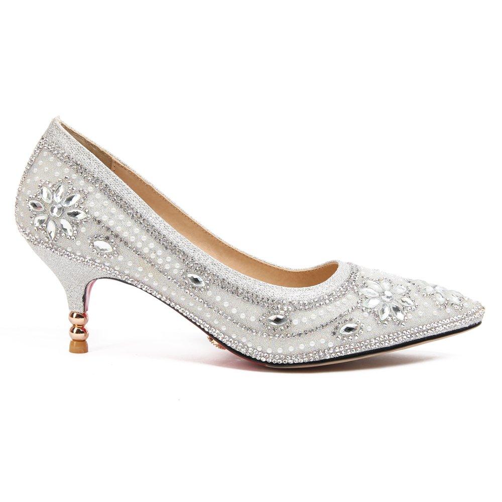 1c895602 Outlet Wanson Tacones Altos De La Mujer Sexy Boca Baja Puntiaguda Tacones  De Tacón De Aguja Sandalias De Dama De Honor Calzado Nupcial Zapatos ...