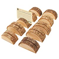 Healifty 10pcs Rustic Wood Place Card Holders Table Numbers Holders Memo Holders Photo Note Clip Holders Vintage Wedding Party Favor