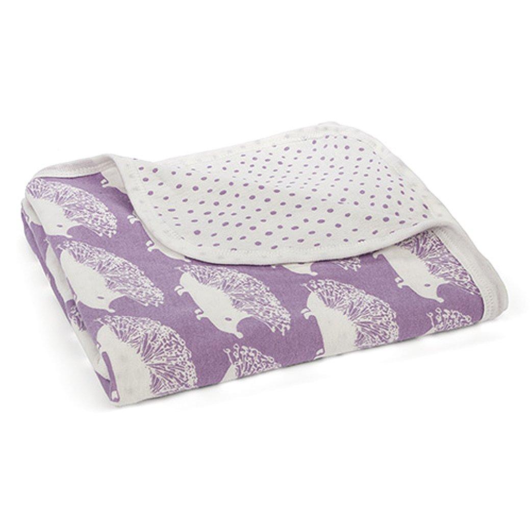 Milkbarn Organic Cotton Stroller Blanket - Purple Hedgehog by MilkBarn