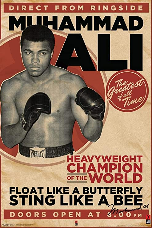 """signed by artist Muhammad Ali 11x17/"""" FAN Poster Vivid Colors!"""