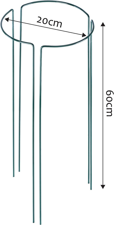 halbrunde Rankhilfe f/ür Pflanzen 3 St/ück Staudenhalter Blumenst/ütze H/öhe: 45 cm wetterfester Blumenhalter Strauchst/ütze KADAX Pflanzenhalter Pflanzenst/ütze aus Stahl Garten freistehend
