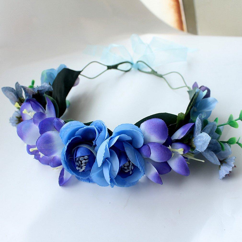 Cereoth fiore ghirlanda corona floreale ghirlanda per matrimonio