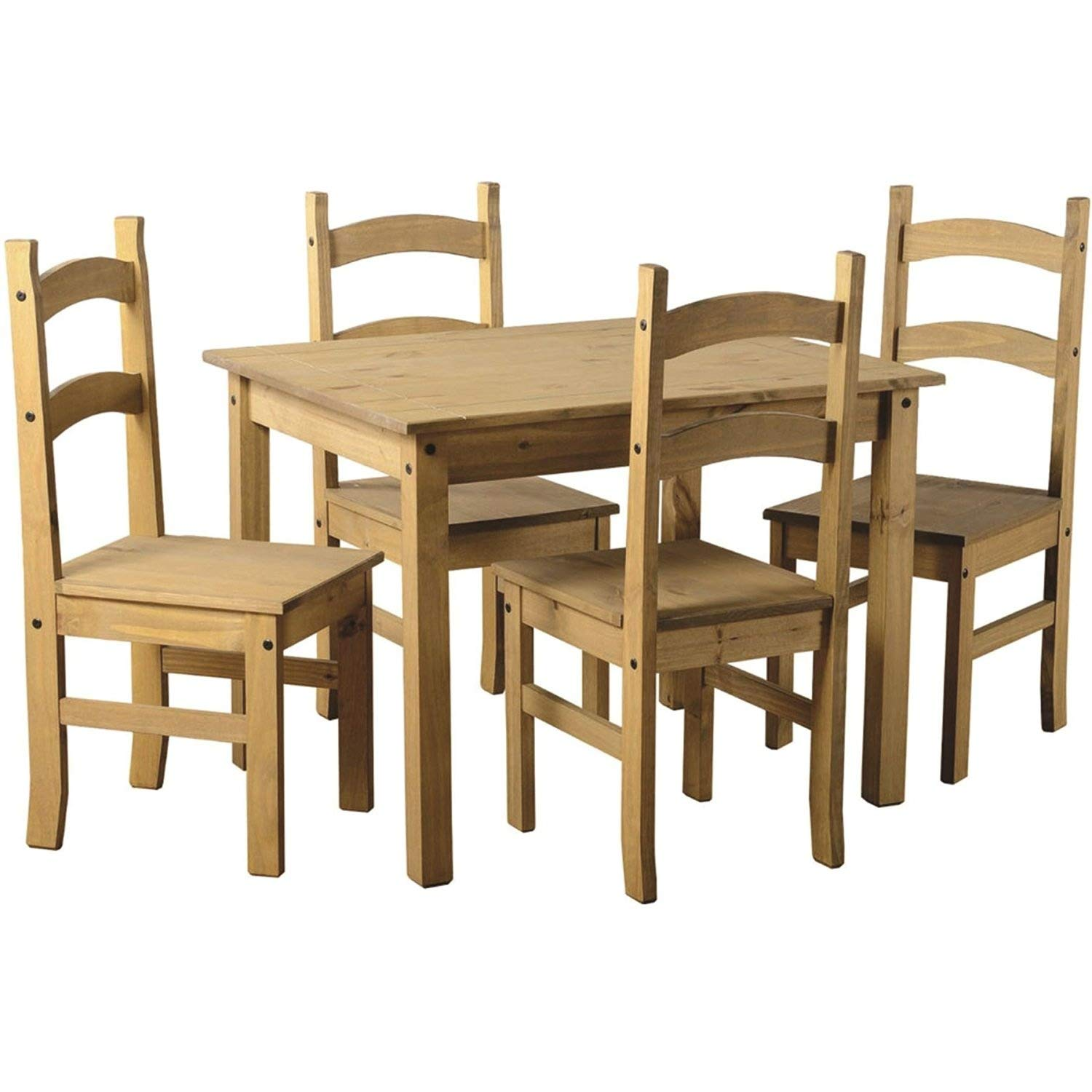 pine dining room table and chairs amazon co uk rh amazon co uk Round Dining Table Hillsdale Dining Chairs and Tables