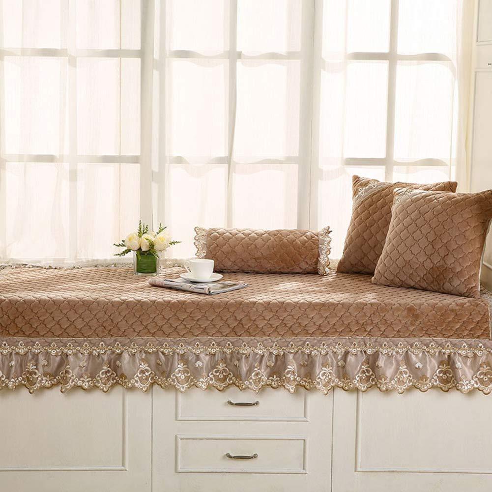 Der Simple Modern Bay Window Mat,Window sill Mat,Matt Mat,Machine wash Balcony Mat for Bedroom Sofa Living Room (Color : B, Size : 90x180cm(35x71inch))