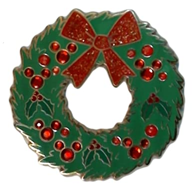 disney pins holiday wreath with mickey jewels christmas pin 73222