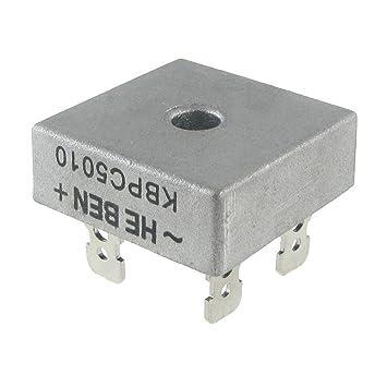 kbpc5010 wiring diagram kbpc5010 image wiring diagram amazon com toogoo r single phase diode bridge rectifier 50a on kbpc5010 wiring diagram