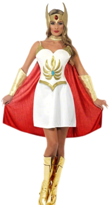 Confettery - Damen She-Ra Masters of Universe Kriegerprinzessin Kostüm, S, Mehrfarbig