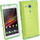 igadgitz Teñido Verde Case TPU Gel Funda Cover Carcasa para Sony Xperia SP Android Smartphone +