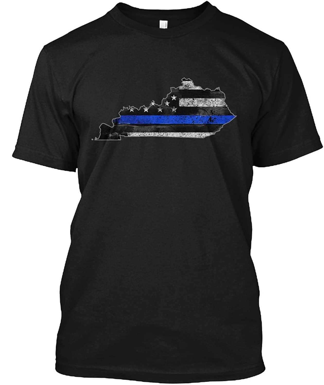 Teespring Unisex Kentucky Thin Blue Line Hanes Tagless T-Shirt